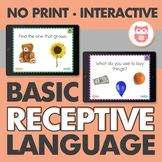 No Print Basic Receptive Language
