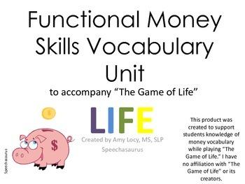 "No Print Functional Money Skills Unit to Accompany ""The Ga"