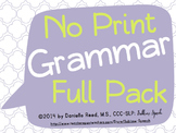 No Print Grammar: Full Pack