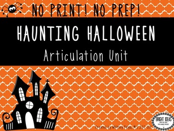 No Print Interactive Halloween Articulation Unit