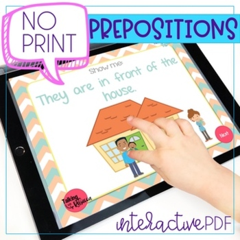 No Print Let's Learn Prepositions