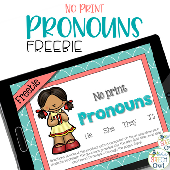 FREEBIE: No Print Pronouns