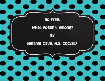 No Print What Doesn't Belong?