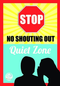 No Shouting, Quiet Zone Poster
