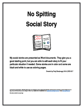 No Spitting Social Story