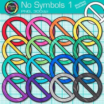 No Symbol Clip Art 1 - No Signs, Prohibition Symbol, Circl