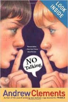 No Talking by Andrew Clements Classroom Novel Set