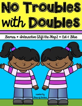 {No Troubles With Doubles Pack} Math for First Grade Games