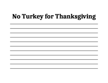 No Turkey for Thanksgiving part 1