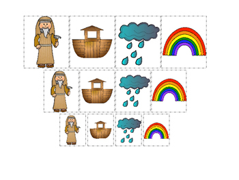 Noah's Ark themed Size Sorting printable game. Preschool B