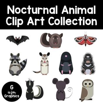 Nocturnal Animal Clip Art