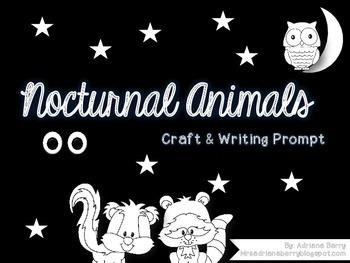 Nocturnal Animal Freebie Craft & Writing Prompt