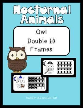 Nocturnal Animals Owl Double Ten Frames