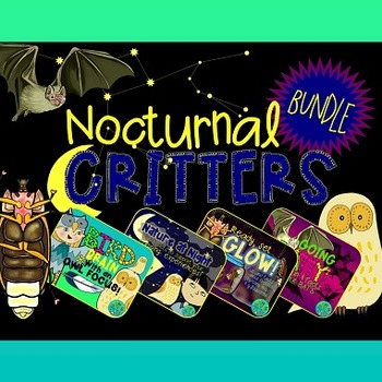 Nocturnal Critters Bundle {Owls, Bats & Fireflies booklets}