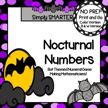 Nocturnal Numbers:  NO PREP Bat Themed Numeral Game