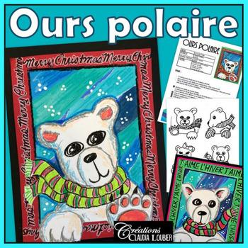 Noël: Ours polaire, projets d'arts plastiques, hiver