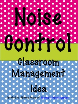 Noise Control Display for Classroom Management - Polka Dots