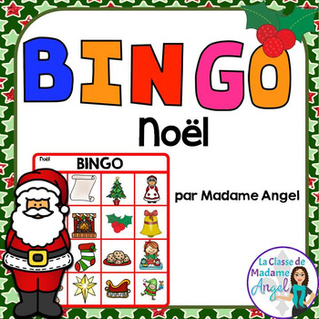 Noël:  Christmas Themed Bingo Game in French