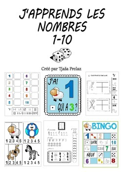 J'apprends les nombres 1-10  (exercices, jeux, activités,...)