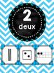 Nombres 1-20 - Affiches - Thème: noir et chevron - French