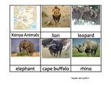 Nomenclature Cards - Animals - Africa - Kenya