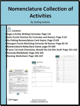 Nomenclature Collection of Activities