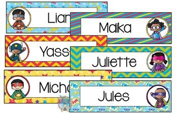 Noms pour les pupitres Héros