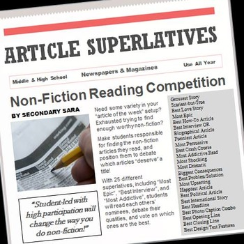 Non-Fiction Article Superlatives: Students Find, Read, Awa