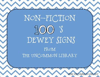 Non-Fiction Dewey Posters  for Your Library Media Center -