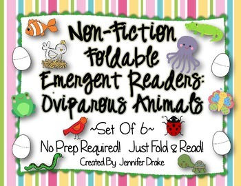Non-Fiction Foldable Emergent Readers: Oviparous Animals!