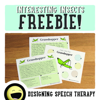 Non-Fiction Insects Speech & Language Pack FREEBIE