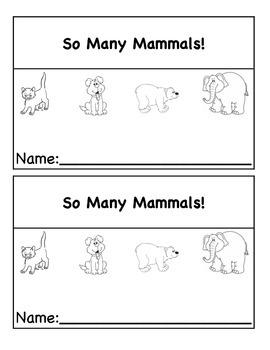 Non-Fiction Mammals Mini Book