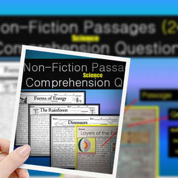 Non-Fiction Passages (Science) W/ Comprehension Questions
