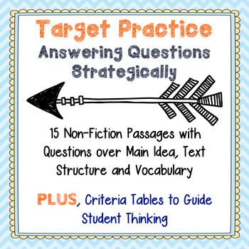 Non-Fiction Passages for Strategic Test Prep-Main Idea, Te