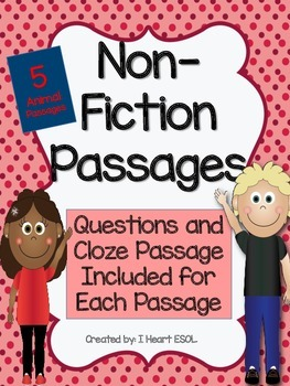 Non-Fiction Passages with Cloze Passages and Questions