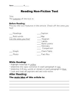 Non-Fiction Preview Sheet