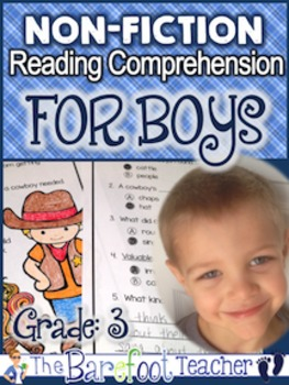 Non-Fiction Reading Comprehension FOR BOYS - Grade 3