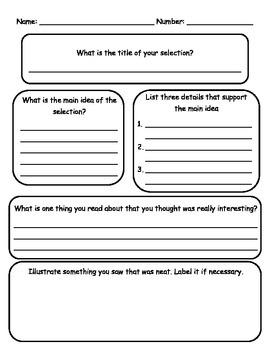 Non-Fiction Reading Response