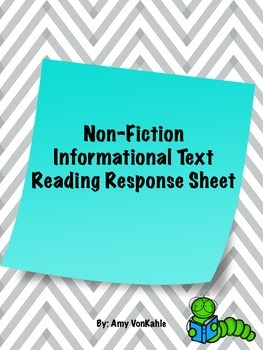 Non-Fiction Reading Response Sheet