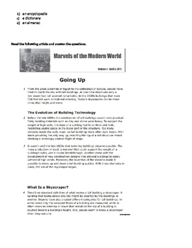Non-Fiction Review or assessment Packet for 5th 6th grade