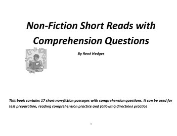 Non-Fiction Short Reads with Literal Comprehension Questions