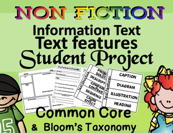 Non-Fiction Student Project Informational Text Features &