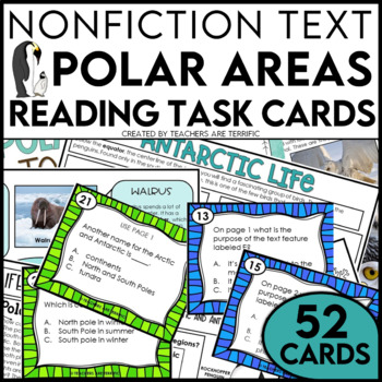 Polar Regions Non-Fiction Task Cards