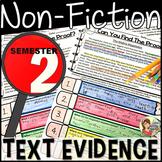 Non-Fiction Text Evidence  {BUNDLE Semester 2}
