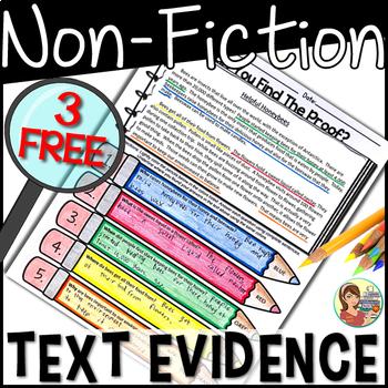Non-Fiction Text Detectives FREEBIE