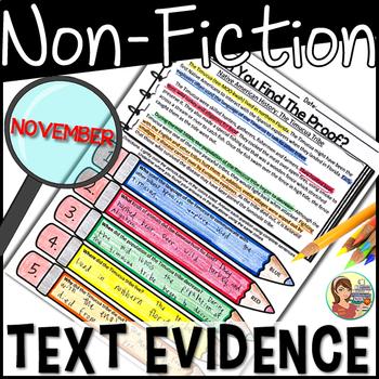 Non-Fiction Text Detectives {November}