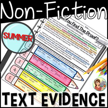 Non-Fiction Text Detectives {Summer}