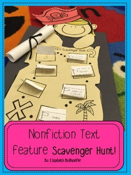 Non Fiction Text Feature Treasure Hunt Craftivity