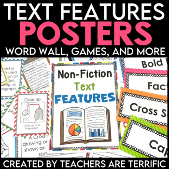 Non Fiction Text Features Posters, Games, and More!