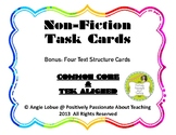 Non Fiction Text Features & Text Structure (24 Task Cards)